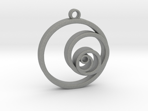 Fibonacci Circles Necklace in Gray PA12
