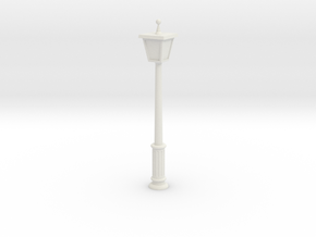 German Streetlight in White Natural Versatile Plastic