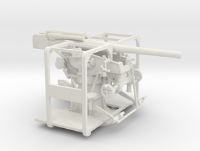 1/72 IJA Type 99 88mm Anti-aircraft gun in White Natural Versatile Plastic