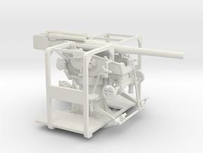 1/72 IJA Type 99 88mm Anti-aircraft gun in White Natural Versatile Plastic
