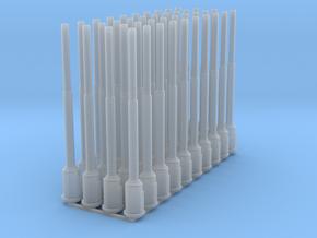 1:87 1589 BVL-mast met ronde sokkel en kast (40x) in Smooth Fine Detail Plastic
