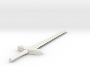 1/3rd Scale Sabers Excalibur in White Natural Versatile Plastic