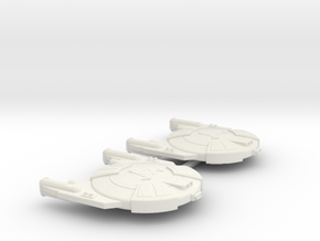 3788 Scale Andromedan Viper Frigates (2) SRZ in White Natural Versatile Plastic