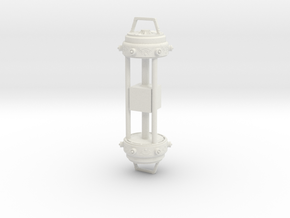 "Tesseract - Cosmic Cube Holder - 6"" figure in White Natural Versatile Plastic"