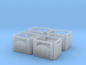 Bottle crate (4 pieces) 1/56 in Smooth Fine Detail Plastic