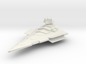 2700 Victory class destroyer Star Wars in White Natural Versatile Plastic