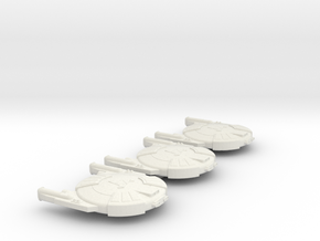 3788 Scale Andromedan Cobra Destroyers (3) SRZ in White Natural Versatile Plastic