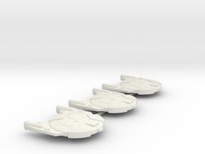 3788 Scale Andromedan Viper Frigates (3) SRZ in White Natural Versatile Plastic