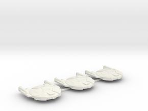 3125 Scale Andromedan Viper Frigates (3) SRZ in White Natural Versatile Plastic