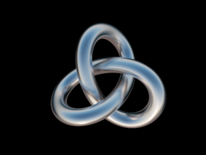 Torus Knot in Fine Detail Polished Silver