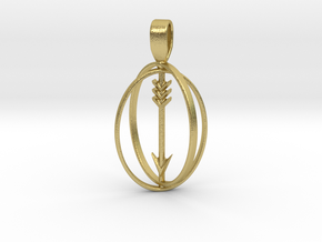 Sagittarius Birthsign Pendant in Natural Brass