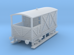 a-148fs-gwr-L355-1886-brake-van in Smooth Fine Detail Plastic