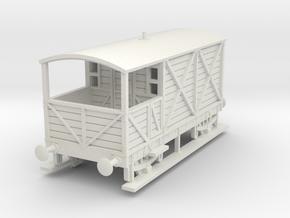 a-87-gwr-kesr-1886-brake-van in White Natural Versatile Plastic