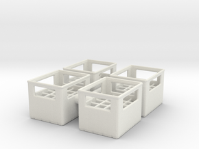 Bottle Crate (4 pieces) 1/24 in White Natural Versatile Plastic