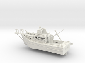 8 inch Jaws Boat By Edwin in White Natural Versatile Plastic