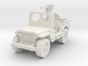 Jeep willys 30 cal (window up) 1/87 in White Natural Versatile Plastic
