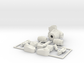 144 hunchback 4G parts in White Natural Versatile Plastic