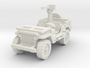 Jeep Willys 30 cal (window down) 1/72 in White Natural Versatile Plastic