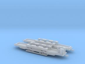 1:220 Straßenbahn Tw721 und Beiwagen Fahrgestelle in Smooth Fine Detail Plastic
