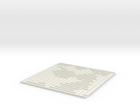 [1DAY_1CAD] MAZE [1]  in White Natural Versatile Plastic