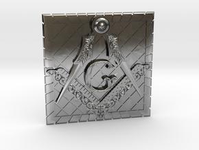 Masonic Belt Buckle in Antique Silver