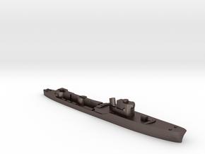Italian Orione WW2 torpedo boat 1:1800 in Polished Bronzed-Silver Steel