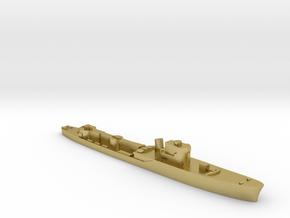 Italian Orione WW2 torpedo boat 1:1800 in Natural Brass