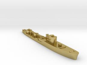 Italian Orsa WW2 torpedo boat 1:1800 in Natural Brass