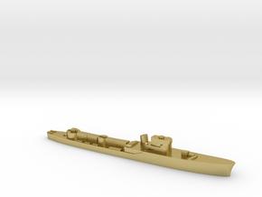 Italian Pegaso WW2 torpedo boat 1:3000 in Natural Brass