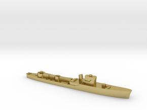 Italian Pegaso WW2 torpedo boat 1:2400 in Natural Brass