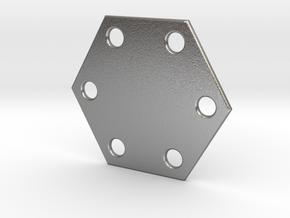Hexagon Lamellar Armor in Natural Silver
