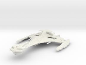 "Klingon VerTar Class WarCuiser 5.1"" in White Natural Versatile Plastic"