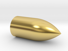 Gyrojet Rocket Mk1 in Polished Brass