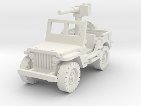 Jeep Willys 50 cal (window up) 1/56 in White Natural Versatile Plastic