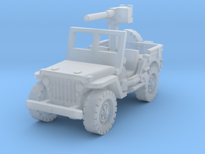 Jeep Willys 50 cal (window up) 1/144 in Smooth Fine Detail Plastic