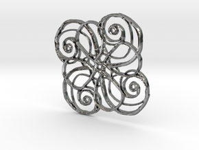 :Nature Dance IV: Pendant in Polished Silver