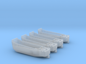 1/285 Scale LCVP Set Of 4 in Smooth Fine Detail Plastic