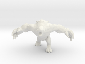 Werebear Druid 1/60 miniature for games and rpg in White Natural Versatile Plastic