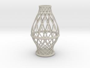 Spiral Vase Medium in Natural Sandstone