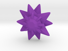 Pokemon Sutaamii (Starmie) 1:12 Scale in Purple Processed Versatile Plastic