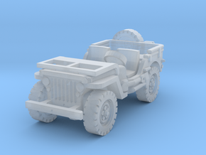 Jeep willys (window down) 1/120 in Smooth Fine Detail Plastic