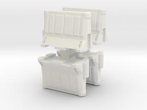 Interlocking traffic barrier (x4) 1/100 in White Natural Versatile Plastic