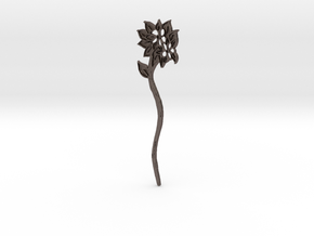 Everspring Hairstick in Polished Bronzed Silver Steel