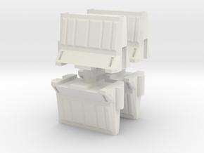 Interlocking traffic barrier (x4) 1/24 in White Natural Versatile Plastic