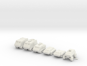 Landrams 285 scale in White Natural Versatile Plastic