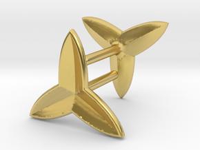 Fleur De Lys Earring set in Polished Brass