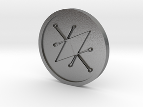Seal of Saturn Coin in Natural Silver