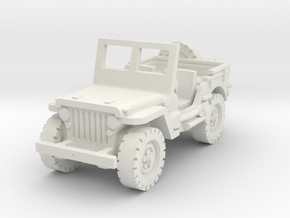 Jeep Willys (window up) 1/87 in White Natural Versatile Plastic