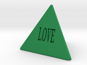 The Lord's Pyramid in Green Processed Versatile Plastic