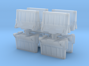 Interlocking traffic barrier (x8) 1/200 in Smooth Fine Detail Plastic